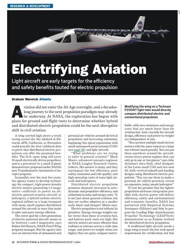 la foto-avión eléctrico