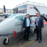 Manuel Garbaccio (General Manager Eagle Aviation) and Marcus Gurtner (CSO AIrborne Technologies)