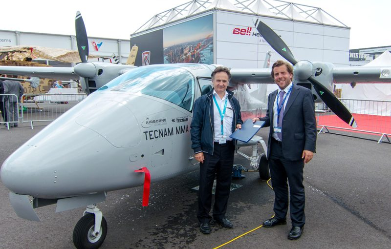 Manuel Garbaccio (General Manager Eagle Aviation) and Marcus Gurtner (CSO AIrborne Technologies)